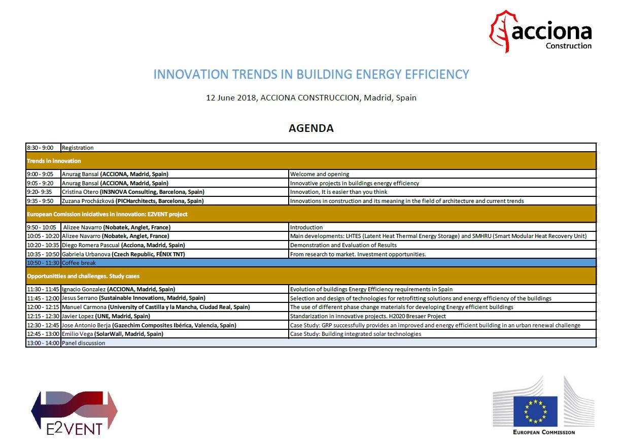 Workshop Madrid Agenda